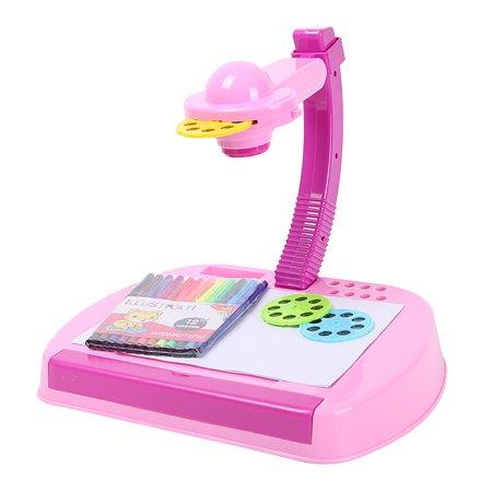 Проектор для рисования Attivio 3D Розовый OTE0639084G