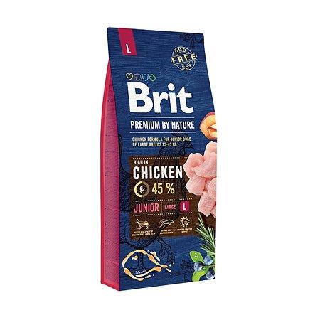 Корм для щенков Brit Premium крупных пород курица 15кг