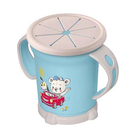 Чашка Пластишка для сухих завтраков 270мл с 12месяцев Голубой