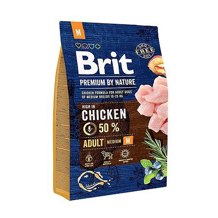 Корм для собак Brit Premium средних пород курица 3кг