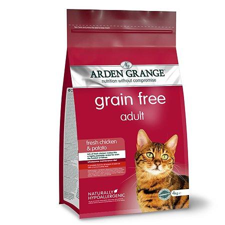 Корм сухой для кошек Arden Grange Adult 4кг беззерновой с курицей и картофелем
