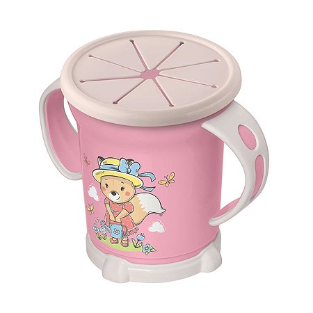 Чашка Пластишка для сухих завтраков 270мл с 12месяцев Розовый