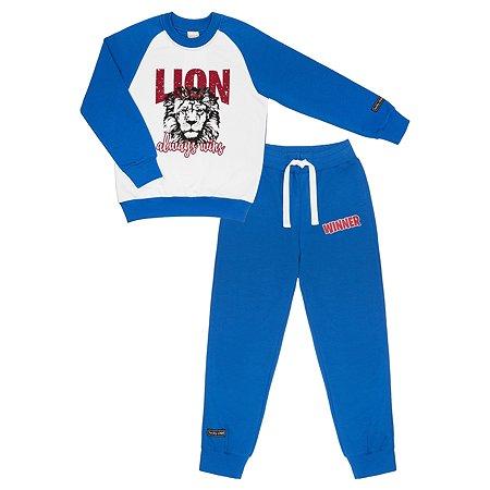 Костюм (свитшот и брюки) Lucky Child синий