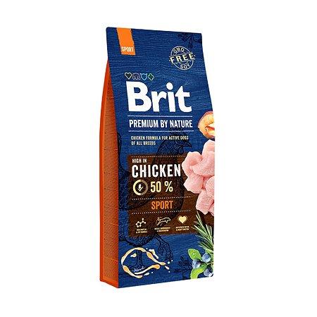 Корм для собак Brit Premium энергичных курица 15кг