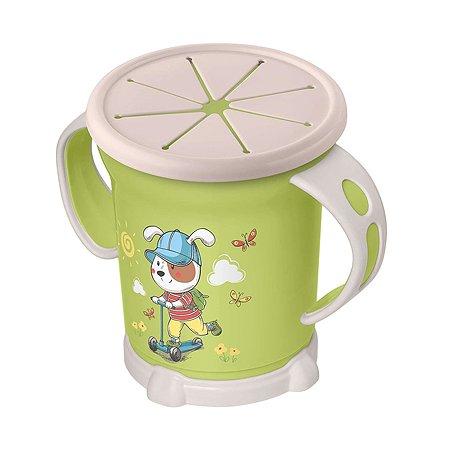 Чашка Пластишка для сухих завтраков 270мл с 12месяцев Зеленый
