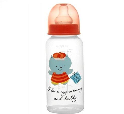 Бутылочка Happy Baby со стандартным горлом с силиконовой соской 250 мл 0 мес+ в ассортименте