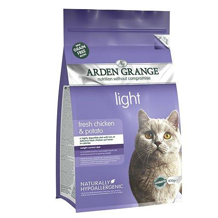 Корм сухой для кошек Arden Grange Adult Light 400г беззерновой с курицей и картофелем