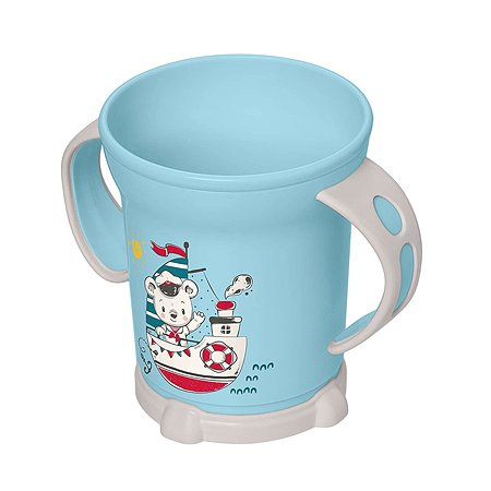Чашка Пластишка 270мл с 12месяцев Голубой