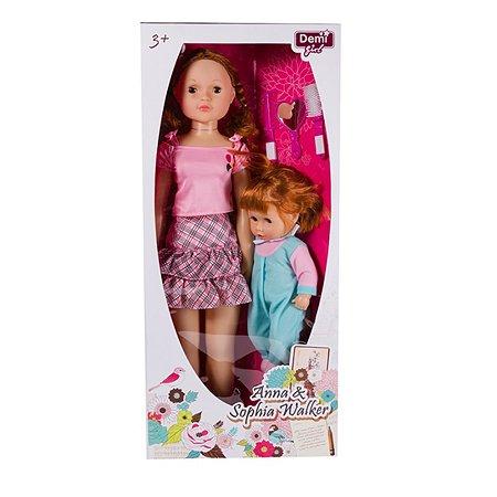 Куклы Demi Star Анна 78 см и София 38 см (шагающие)
