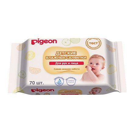 Салфетки Pigeon влажные для сосок игрушек фруктов 70шт