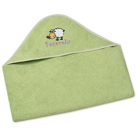 Полотенце с капюшоном Pecorella Зеленое