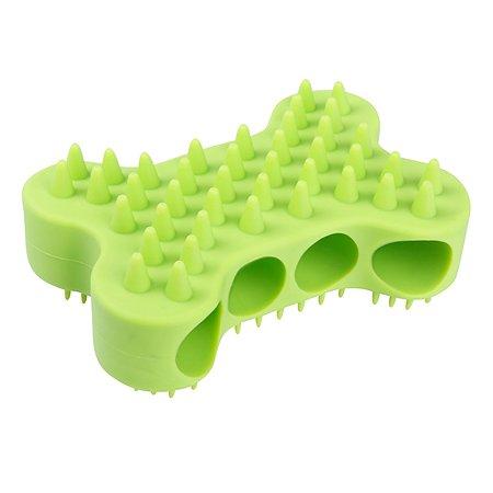 Щетка для мытья животных Stefan массажная силиконовая салатовая Stefan