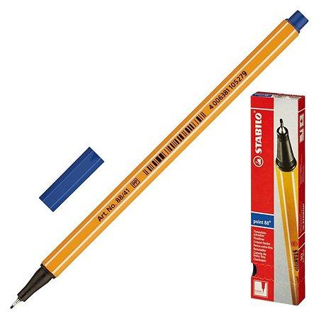 Ручка капилярная STABILO синяя 04мм