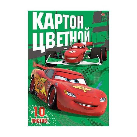 Картон цветной Академия Холдинг 10 ц. 10 л Cars