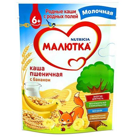 Каша молочная Малютка пшеничная с бананом 220г