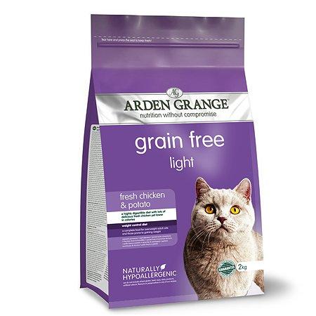 Корм сухой для кошек Arden Grange Adult Light 2кг беззерновой с курицей и картофелем