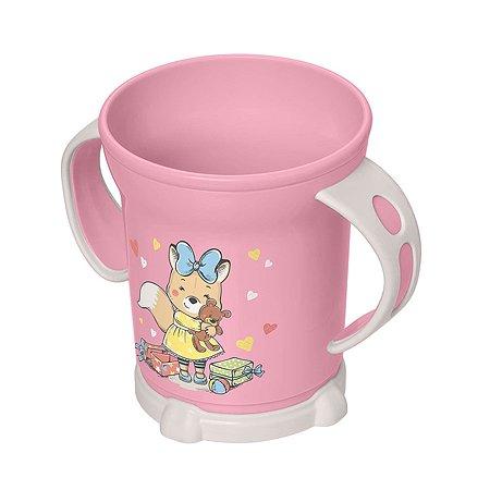 Чашка Пластишка 270мл с 12месяцев Розовый