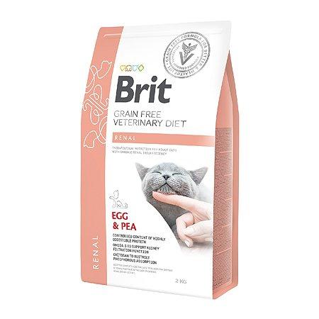 Корм для кошек Brit Veterinary Diet Renal беззерновой яйца-горох 2кг