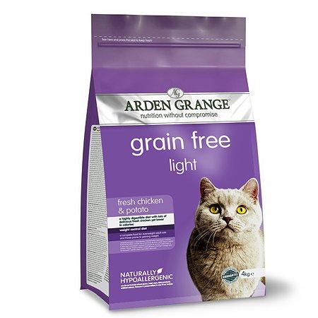 Корм сухой для кошек Arden Grange Adult Light 4кг беззерновой с курицей и картофелем