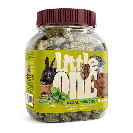 Лакомство для грызунов Little One травяные подушечки 100г 24505