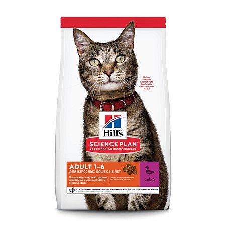 Корм сухой для кошек HILLS Science Plan 10кг с уткой