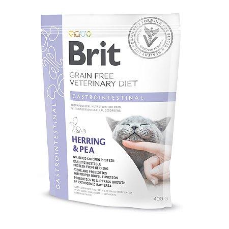 Корм сухой для кошек Brit Veterinary Diet Gastrointestinal 400г беззерновой сельдь