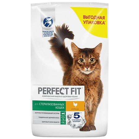Корм сухой для кошек PerfectFit 10кг курица стерилизованных