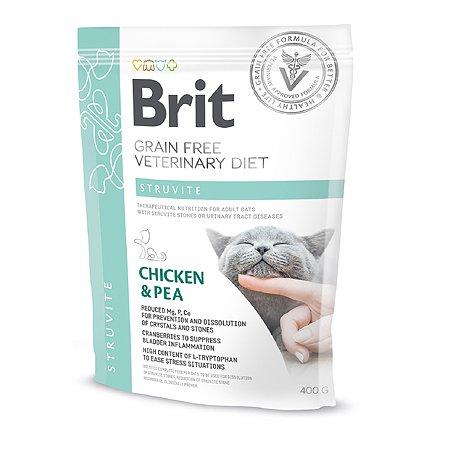 Корм для кошек Brit Veterinary Diet Struvite беззерновой курица 400г
