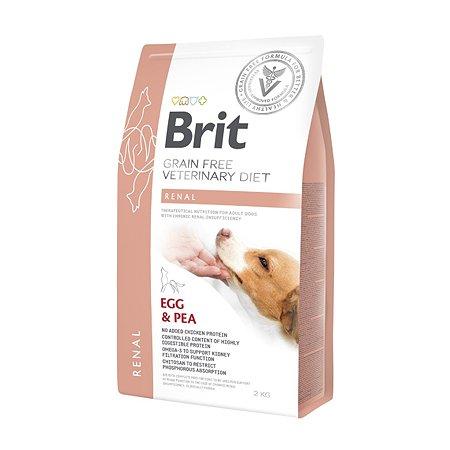 Корм для собак Brit Veterinary Diet Renal беззерновой яйца-горох 2кг