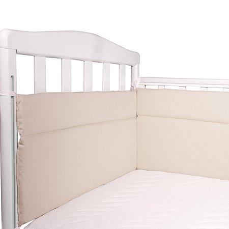 Бортик для кроватки Babyton Бежевый