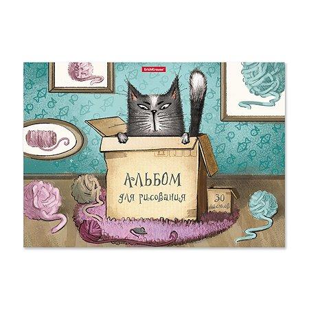Альбом для рисования ErichKrause Cat and Box А4 30л 46912