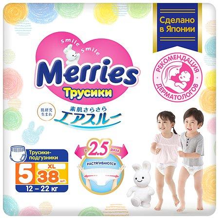 Подгузники-трусики Merries XL 12-22кг 38шт
