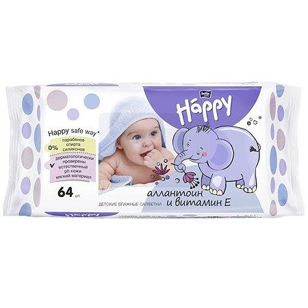 Салфетки Bella baby Happy влажные с витамином Е 64шт
