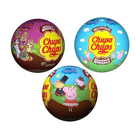 Шоколадный шар ЧУПА ЧУПС с игрушкой 20 г в непрозрачной упаковке (Сюрприз)