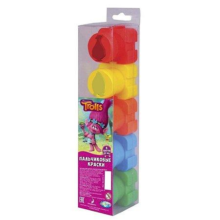 Пальчиковые краски Centrum Тролли 5 цветов*20 мл в пластиковой коробке
