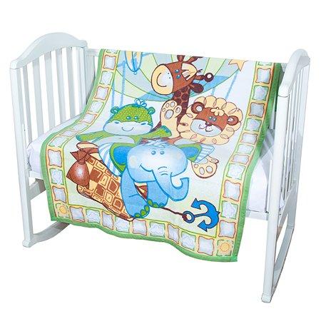 Одеяло байковое Baby Nice 100х140 салатовое Воздушные шары