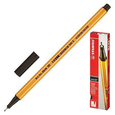 Ручка капилярная STABILO черная 04мм