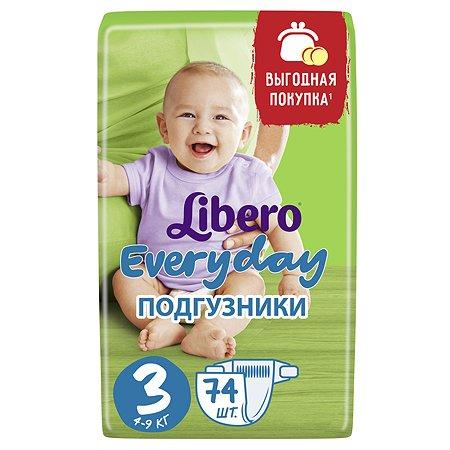 Подгузники Libero Everyday 3 4-9кг 74шт