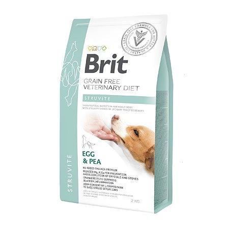 Корм для собак Brit Veterinary Diet Struvite беззерновой яйца-горох 2кг