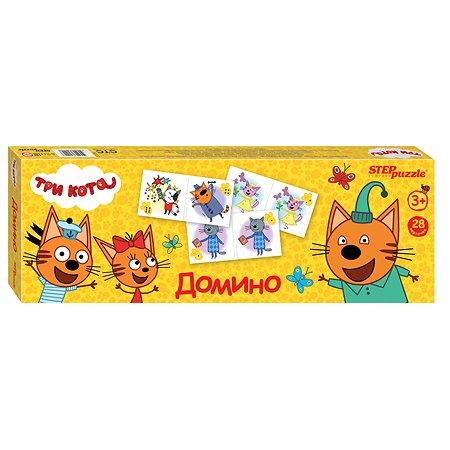 Игра настольная Step Puzzle Три кота Домино 80122