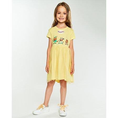 Платье Три кота жёлтое