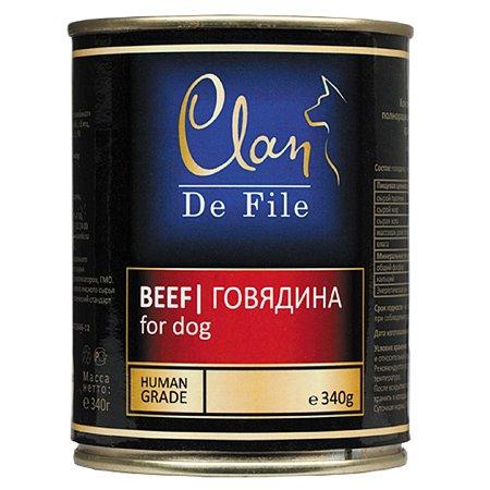 Корм для собак Clan De File говядина консервированный 340г