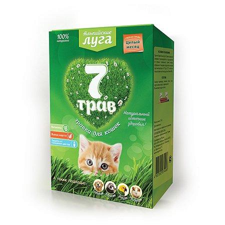 Лакомство для кошек Альпийские луга 7 трав Травка лоток 75г