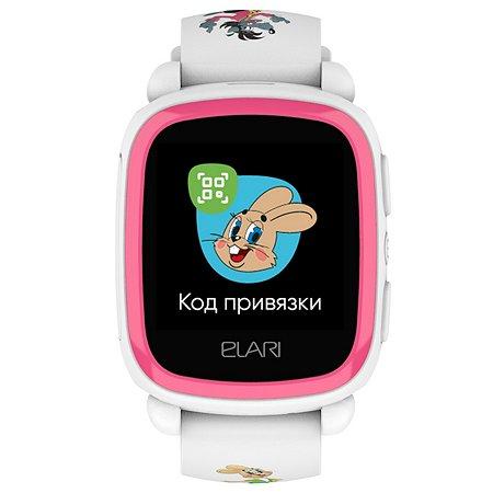 Часы ELARI KidPhone Ну погоди Белый ELKP-NPWHT/PNK