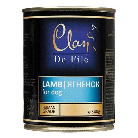 Корм для собак Clan De File ягненок консервированный 340г