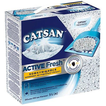 Наполнитель для кошек Catsan Active fresh комкующийся 5л