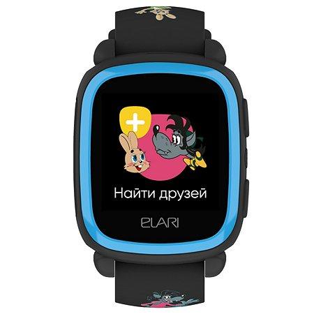 Часы ELARI KidPhone Ну погоди Черный ELKP-NPBLK/BLU