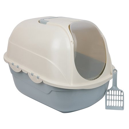 Туалет-домик для кошек Stefan совок в комплекте 53х41х42cm голубой Stefan