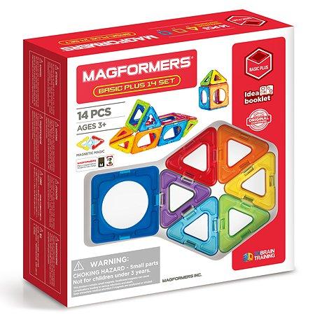 Конструктор магнитный Magformers Basic Plus 14 715013