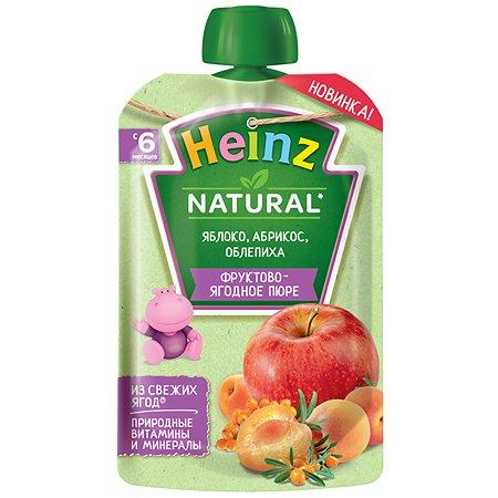 Пюре Heinz яблоко-абрикос-облепиха 90г с 6месяцев
